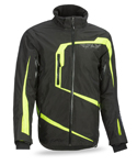 FLY RACING Snow Snowmobile 2017 CARBON Weatherproof Jacket (Black/Hi-Vis)