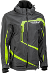 Fly Racing Snowmobile Carbon Mountain Jacket (Grey/Hi-Vis)