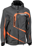 Fly Racing Snowmobile Carbon Mountain Jacket (Grey/Orange)