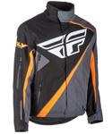 Fly Racing Snow Snowmobile Men's SNX Jacket (Black/Orange/Grey)