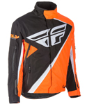 Fly Racing Snow Snowmobile Kids SNX Jacket (Orange/Black)
