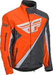 Fly Racing Snowmobile Boys Youth SNX Pro Crossover Jacket (Orange/Grey)