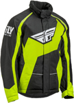Fly Racing Snowmobile Outpost Jacket (Black/Hi-Vis)