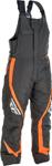 Fly Racing Snowmobile Outpost Bib Pants (Black/Orange)