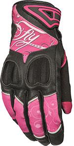FLY Street - Women's VENUS Touchscreen Motorcycle Gloves (Pink/Black)
