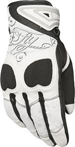 FLY Street - Women's VENUS Touchscreen Motorcycle Gloves (White/Black)
