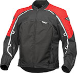 FLY Street - BUTANE 4 Textile Motorcycle Jacket (Red/Black)