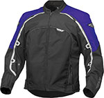 FLY Street - BUTANE 4 Textile Motorcycle Jacket (Blue/Black)