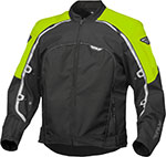 FLY Street - BUTANE 4 Textile Motorcycle Jacket (Hi-Vis/Black)