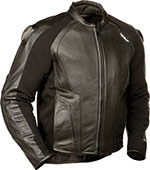 FLY Street - APEX Leather Motorcycle Riding Jacket (Black)