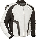 FLY Street - APEX Leather Motorcycle Riding Jacket (White/Black)