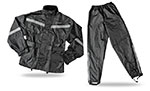 FLY RACING Two-Piece Motorcycle Rain Suit (Black)