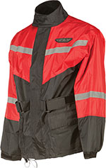 FLY RACING Two-Piece Motorcycle Rain Suit (Black/Red)