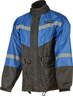 FLY RACING Two-Piece Motorcycle Rain Suit (Black/Blue)
