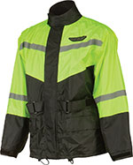 FLY RACING Two-Piece Motorcycle Rain Suit (Black/Hi-Viz Yellow)