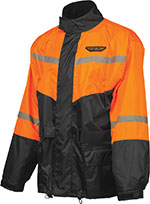 FLY Street - 2-Piece Motorcycle Rainsuit (Black/Orange)