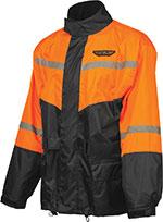 FLY Street - 2-Piece Motorcycle Rainsuit (Black/Orange)