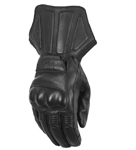 HIGHWAY 21 Men's DEFLECTOR Touchscreen Cold Weather Leather Riding Gloves (Black)