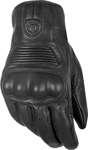 HIGHWAY 21 Men's HAYMAKER Touchscreen Leather Riding Gloves (Black)