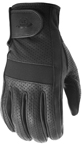 Highway 21 Men's JAB Perforated Leather Touchscreen Motorcycle Riding Gloves (Black)