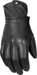 HIGHWAY 21 Ladies ROULETTE Leather Riding Gloves (Black)