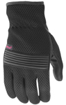 Highway 21 Women's TURBINE Mesh/Leather Touchscreen Motorcycle Riding Gloves (Black)