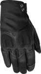 HIGHWAY 21 Ladies VIXEN Touchscreen Leather Riding Gloves (Black)