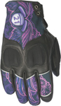 HIGHWAY 21 Ladies VIXEN Touchscreen Leather Riding Gloves (Purple Lace)