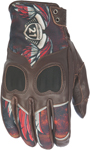 HIGHWAY 21 Ladies VIXEN Touchscreen Leather Riding Gloves (Liberty Brown)