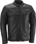 HIGHWAY 21 Men's GASSER Vintage-Look Leather Riding Jacket (Black)