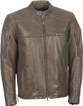 HIGHWAY 21 Men's GASSER Vintage-Look Leather Riding Jacket (Vintage Brown)