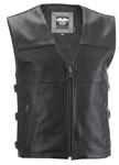 HIGHWAY 21 Men's 12-GAUGE Leather Riding Vest (Black)