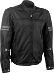Highway 21 Men's TURBINE Mesh Motorcycle Riding Jacket w/Removable Liner (Black)