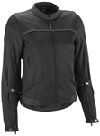 Highway 21 Women's AIRA Mesh Motorcycle Riding Jacket w/Removable Liner (Black)