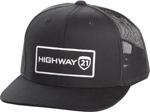 Highway 21 CORPORATE Snap-back FlexFit Flat Bill Hat/Cap (Black)