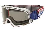 100% MX Motocross BARSTOW Classic Goggles (White w/ Anti-Fog Smoke Lens)