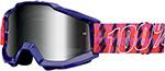 100% MX Motocross ACCURI Goggles (Sultan w/ Anti-Fog Mirror Silver Lens)
