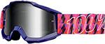 100% MX Motocross Kids ACCURI Jr Goggles (Sultan w/ Anti-Fog Mirror Silver Lens)