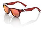 100% MX Motocross ATSUTA Sunglasses (Burgundy Frame, Orange Mirror Lens)