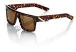 100% MX Motocross BOWEN Sunglasses (New Tortoise Frame, Brown Tint Lens)