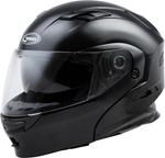 GMAX MD-01 Modular Flip-Up Motorcycle Helmet w/Drop-Down Sun Visor (Gloss Black)