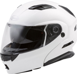 GMAX MD-01 Modular Flip-Up Motorcycle Helmet w/Drop-Down Sun Visor (Pearl White)
