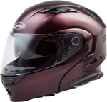 GMAX MD-01 Modular Flip-Up Motorcycle Helmet w/Drop-Down Sun Visor (Gloss Wine Red)