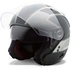 GMAX OF77 Open Face Helmet (Flat Black/Dark Silver)