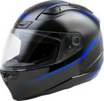 GMAX FF-88 PRECEPT Full-Face Street Motorcycle Helmet (Gloss Black/Blue)