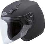GMAX OF-17 Open-Face Motorcycle Helmet (Matte Black)