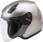 GMAX OF-17 Open-Face Motorcycle Helmet w/Drop-Down Sun Visor (Gloss Titanium)