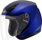 GMAX OF-17 Open-Face Motorcycle Helmet w/Drop-Down Sun Visor (Gloss Blue)