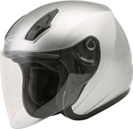 GMAX OF-17 Open-Face Motorcycle Helmet w/Drop-Down Sun Visor (Gloss Dark Silver)