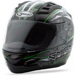GMAX GM69 Full Face Street Helmet Mayhem (Black/Silver/Hi-Vis Green)